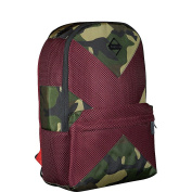 Sprayground X Red Mesh Camo Cut & Sew Backpack - Red