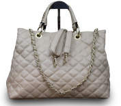 Luxury Women's Handbag Hobo Clutch Party Bag Quilted Faux Leather Beige