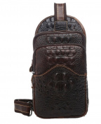 Insum Men's Vintage Leather Sling Chest Bag