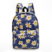 HoJax Floral Printed Casual Backpack Student School Bag Daypack For Teenage Girls