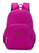 Keshi Nylon Cool College School Laptop Backpack -Straps Reinforced