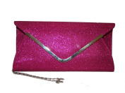 star pink rose fold over clutch