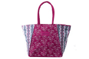 Beach/pool shoulder bag woman GIANMARCO VENTURI fuchsia fantasy floral V129