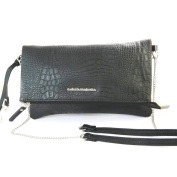 "'french touch' bag 'Lulu Castagnette'black crocodile - 28.5x17x2.5 cm (11.22""x6.69""x0.98"")."
