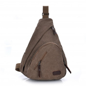 ENKNIGHT Outdoor Vintage Casual Canvas Travel Bag Sling Pack Bag Shoulder Bag Chest Bag for Men