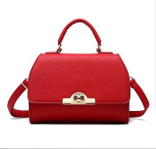 LMJ Ladies Mini PU Leather Shoulder Bag, Women PU Leather Satchel with Button and Strap