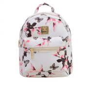 Malloom Women Backpack Fashion Causal Floral Printing Bag