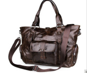 Loyofun New Genuine Leather Real Leather Tote Shoulder Bag Purse Hobo Handbag