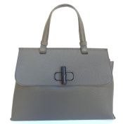 SUPERFLYBAGS Genuine Italian Leather Handbag Model Giada L Clasp in Bamboo Made in Italy