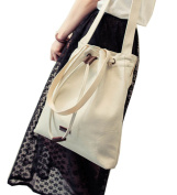 Fakeface Women Lady Girls Fashion Canvas Shopping Bags Tote Simple Style Shoulder Cross-body Bag Beige