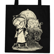 Alice in Wonderland - Tote Bag Ladies Womens Cheshire nightmare steampunk Gothic
