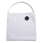 Zarapack Women's Minimalist Faux Leather Women Tote Shopping Bag IT Bag With Flower