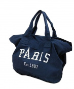 Fakeface Women Lady Fashion Canvas Shopping Bags Tote Casual Style Big Shoulder Handbag Blue