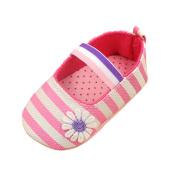 BOBORA Infants Baby Princess Soft Shoes Cotton Floral Stripe Shoes 0-18M