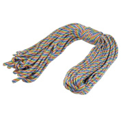 Outdoor Activites Practcial 4mm Dia Colourful Nylon Survival Rope 30m