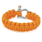 Outdoor Activities Stainless Steel Shackle Orange Survival Bracelet