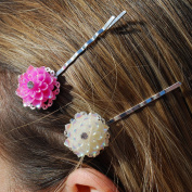 Set Flower Hair Clips Flower Hair Pins Wedding Hair Slides Hairclips Hair Grips Flower Bobby Pins Hair Jewellery Hair Jewellery Vintage Hair Accessories Wedding Hair Accessories Flower Hair Accessories