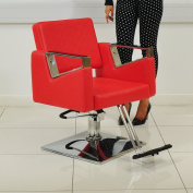 Red Leather Style Hairdressing Hairdresser Barber Saloon Swivel Chair