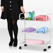 Tinxs 3 Shelf Large Salon Beauty Trolley Cart Spa Storage Dentist Wax Treatments