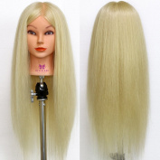 Neverland 70% Real Hair 70cm Long Hair Hairdressing Training Head with Clamp White UK STOCK