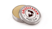 Grizzly Adam Hard Clay | Wax Based Clay Giving a Strong Hold Finish | Low Shine | Add Thickness, Texture and Dimension in Men and Boys Hair | Holds Hair in Place All Day Long