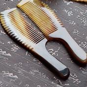 EQLEF® 1 pieces Exquisite Yak Horn Comb Natural Yak Horn Comb Handmade Yak Horn Comb