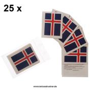 25 x Iceland Fan Tattoo flags - Euro 2016 Fan - Iceland Tattoos - Íslands fánans