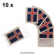 10 x Iceland Fan Tattoo flags - Euro 2016 Fan - Iceland Tattoos - Íslands fánans
