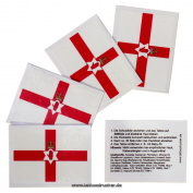 5 x Northern Ireland Fan Tattoo flags - Euro 2016 Fan - Red Hand of Ulster Flag