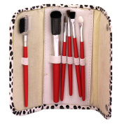 6 Pcs Professional Makeup Wooden Handle Cosmetic/Make Up Brush Kit + Pouch Case