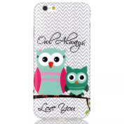 Samidy Iphone 6s Case, [Cute Owl Design] Protective TPU Gel Case for 12cm Iphone 6 / 6s with Screen Protector