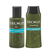 Trichup Anti Dandruff Herbal Hair Kit Oil 60ml Shampoo 60ml Dandruff Control Scalp Care Kit