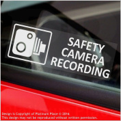 5 x SAFETY CAMERA Recording-30x87mm WINDOW Stickers-Vehicle Security Warning Dash Cam Signs-CCTV,Car,Van,Truck,Taxi,Mini Cab,Bus,Coach
