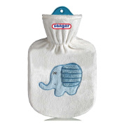 Dumbo White Hot Water Bottle, Kids Hot Water Bottle 0.8L Hot Water Bottle with Velour Cover
