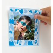 FunToSee Camo Blue Stick-a-Frames, Pack of 12 Wall Sticker Frames