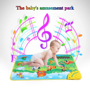GoolRC Colourful Musical Learning Mat Animal Farm Flash Music Carpet Blanket Touch Toy for Baby Kids