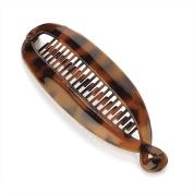 16cm Fish Tail Banana Hair Clip Grip Slide Hair Accessory - Black Or Brown Brown - 28111