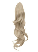 Elegant Hair - 60cm PONYTAIL Clip in Hair Extensions FLICK Champagne Blonde #22 REVERSIBLE Claw Clip 250g