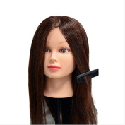 60cm Hair Hairdressing Training Head Practise Mannequin Clamp Cut