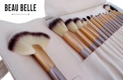 Beau Belle Make Up Brushes - 18pcs Luxe Make Up Brush Set + Make Up Brush Case - Make Up Brushes Set - Professional Make Up Brushes - Makeup Brushes