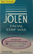 SIX PACKS of Jolen Facial Strip Wax Sensitive Skin 16 Facial Strips