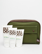 Bulldog Skincare Kit For Men ~ Wash Bag ~ Original Moisturiser ~ Scrub ~ Wash