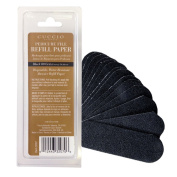 Cuccio Abrasive Pedicure File Refills, Black - Pack of 50