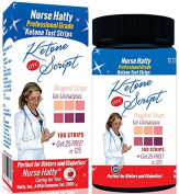Nurse Hatty® OTC Ketone Strips 100ct. + Get 25 Free - Ketone Script PDF Info. Pack to Benefit your Ketogenic / Diabetic Diet - Perfect for Diabetics, Paleo, Atkins & Ketosis Diets