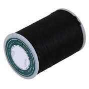 CNBTR 0.8mm Polyester Flat Sewing Waxed Linen Cord Handwork Waxed Thread for Leather