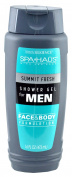 Spa Haüs Summit Fresh Shower Gel for Men, Face & Body Formulation, 470ml