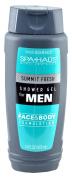Spa Haüs Summit Fresh Shower Gel for Men, Face & Body Formulation, 470ml