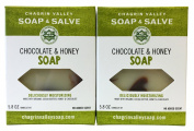 Chagrin Valley Soap & Salve - Organic Natural Soap Bar - Chocolate Honey 2X Pack