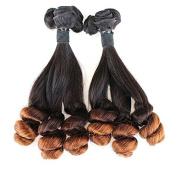 Meetu 8A Grade Unprocessed Virgin Peruvian Funmi Hair 2 Bundles 36cm Straight to Loose Wave 2 Tone Ombre 1B/4# Colour 100g/Set