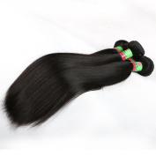 xuchang Eecamail Hair 8A Human Hair Weave Peruvian Virgin Remy Hair Bundles Deals Silky Straight 2 Bundles 25cm - 80cm Natural Black Colour (10 25cm )